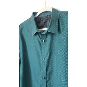 Banana Republic Teal Long Sleeve Button Up XL
